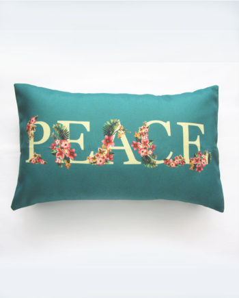 peace floral pillow cover