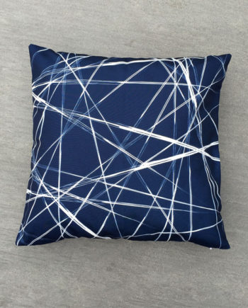 Blue Messy Line Pillow Cover