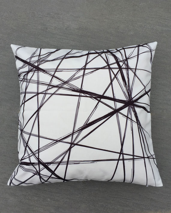Messy Line Pillow Cover
